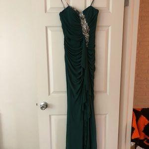 NWT Forest Green strapless dress sz 4